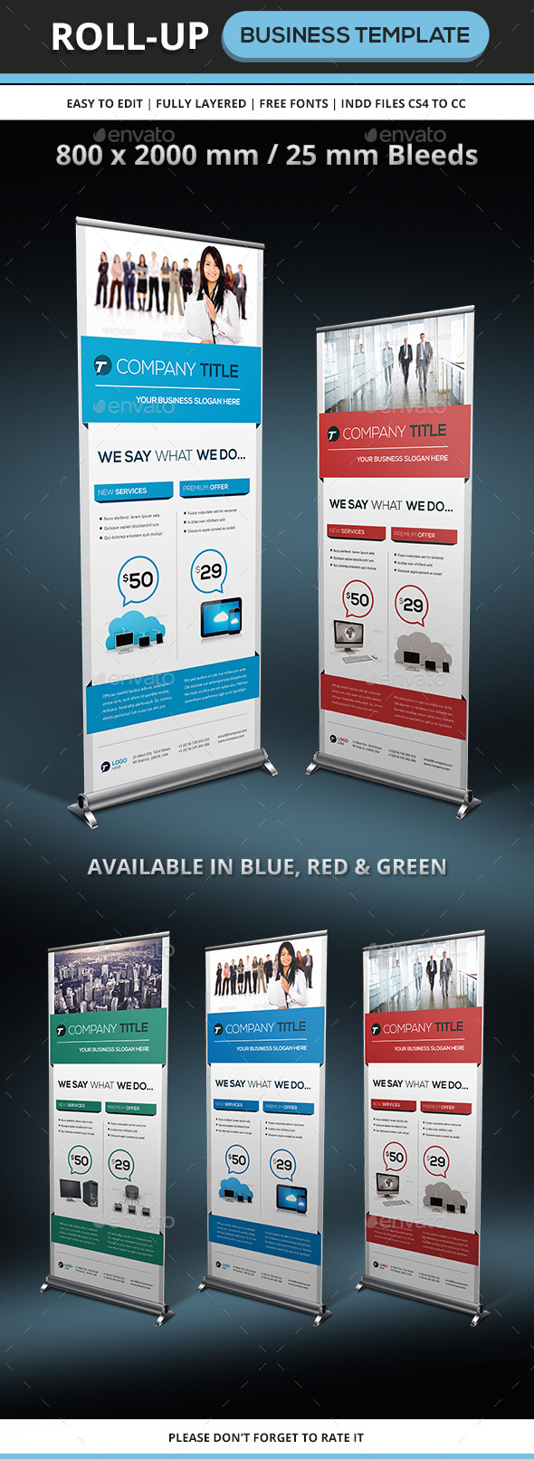 GraphicRiver Corporate & Business Rollup Template 9295066