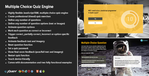 CodeCanyon Multiple Choice Quiz Engine 9144382