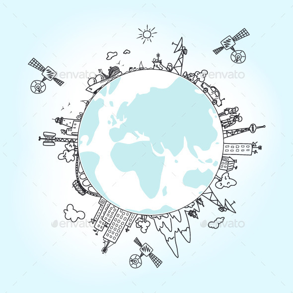 GraphicRiver Global Information Network on the Globe 9295212