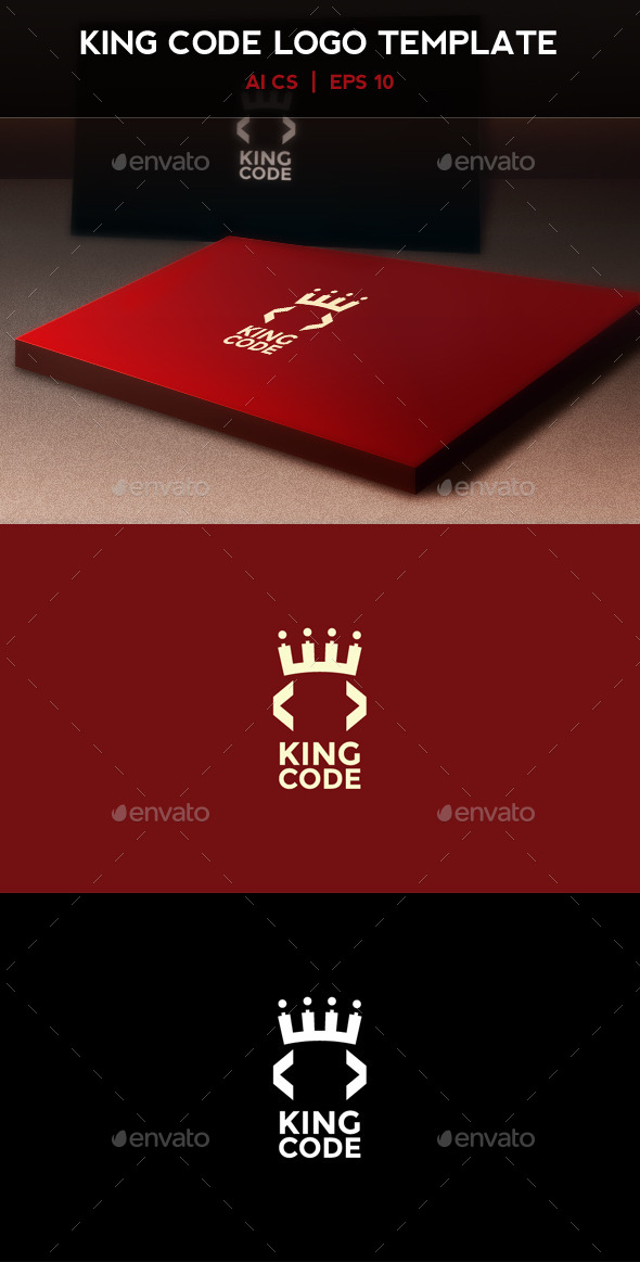 GraphicRiver King Code Logo 9295229