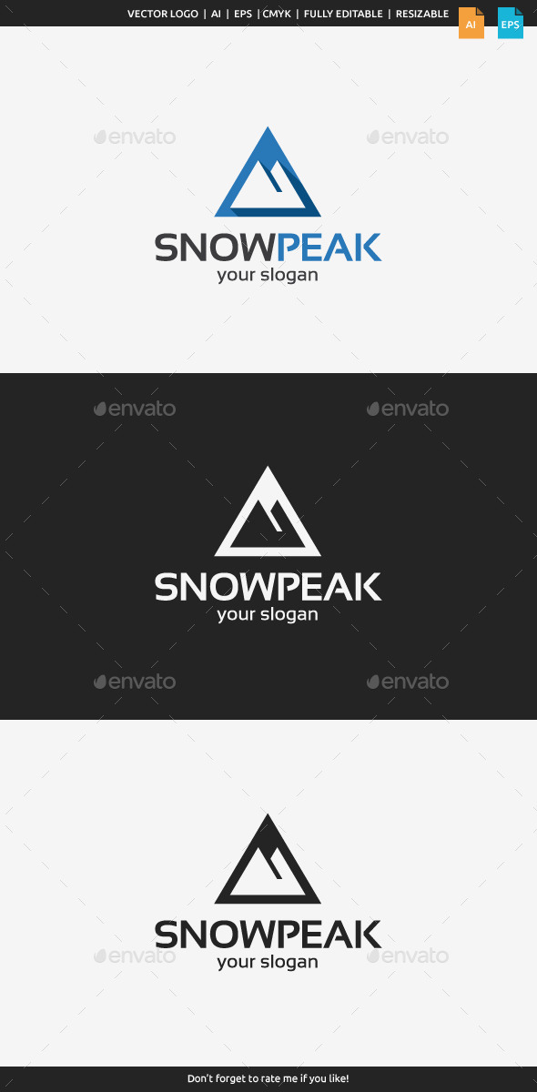 GraphicRiver Snow Peak Logo 9295732