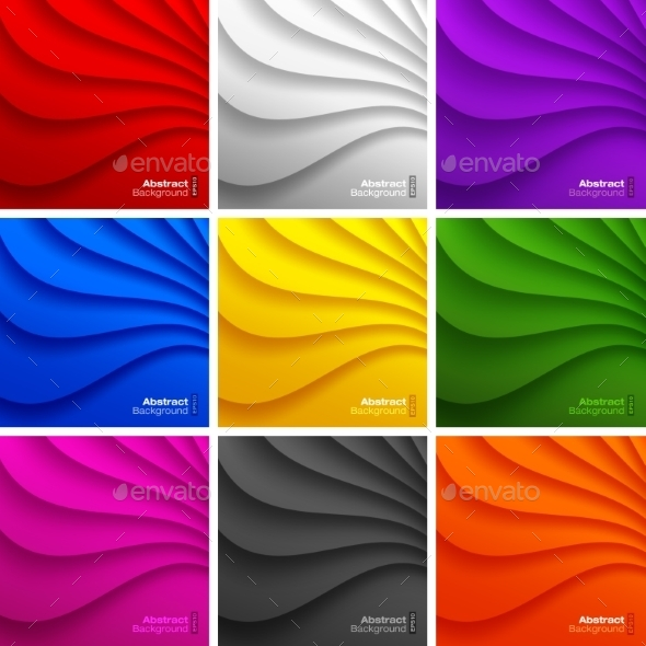 GraphicRiver Wavy Backgrounds 9295812