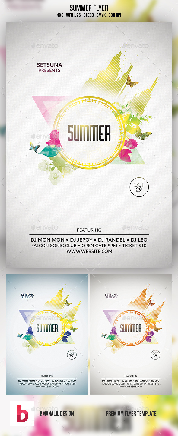 GraphicRiver Summer Flyer 9261869