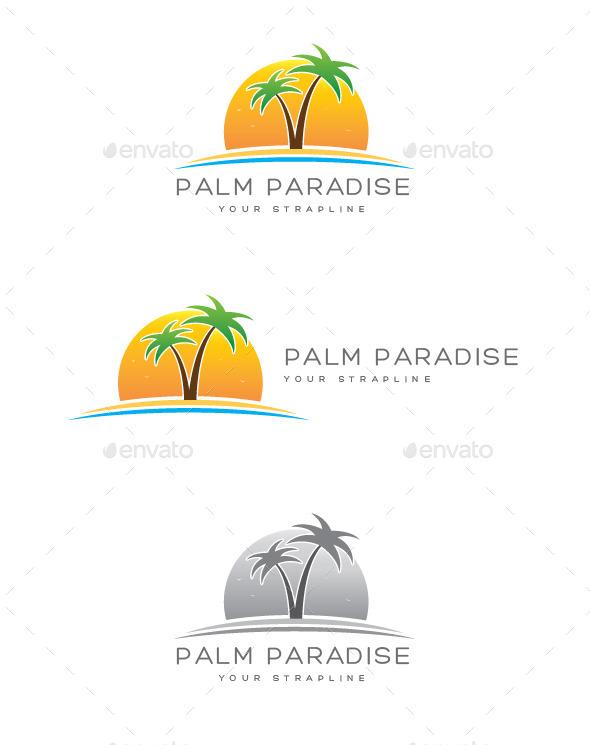 GraphicRiver Palm Paradise Logo 9295913