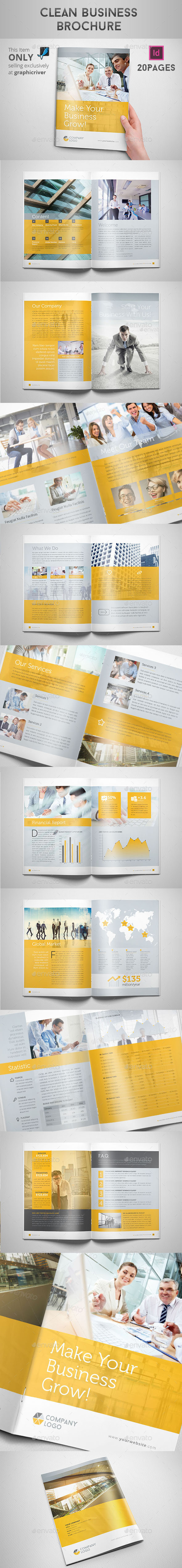 GraphicRiver Clean Business Brochure 9267591