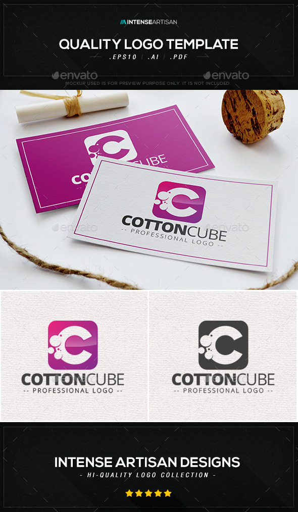 GraphicRiver Cotton Cube Logo Template 9296049