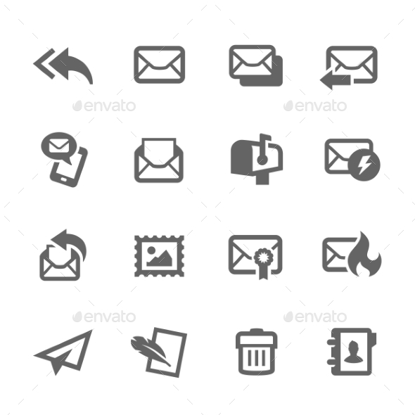 GraphicRiver Mail Icons 9296362