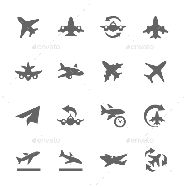 GraphicRiver Planes Icons 9296419