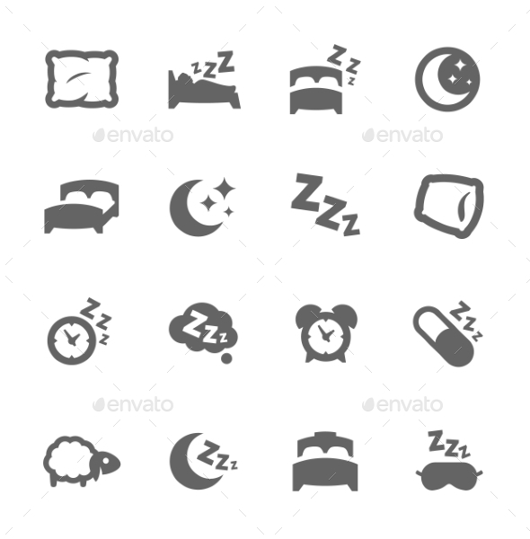 GraphicRiver Sleep Well Icons 9296420