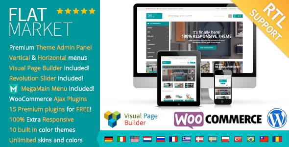 ThemeForest FlatMarket Multi-Purpose WooCommerce theme & RTL 9185162