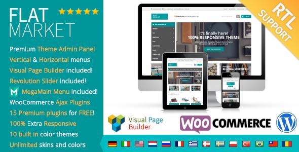 ThemeForest FlatMarket Multi-Purpose WooCommerce theme & RTL 9185162