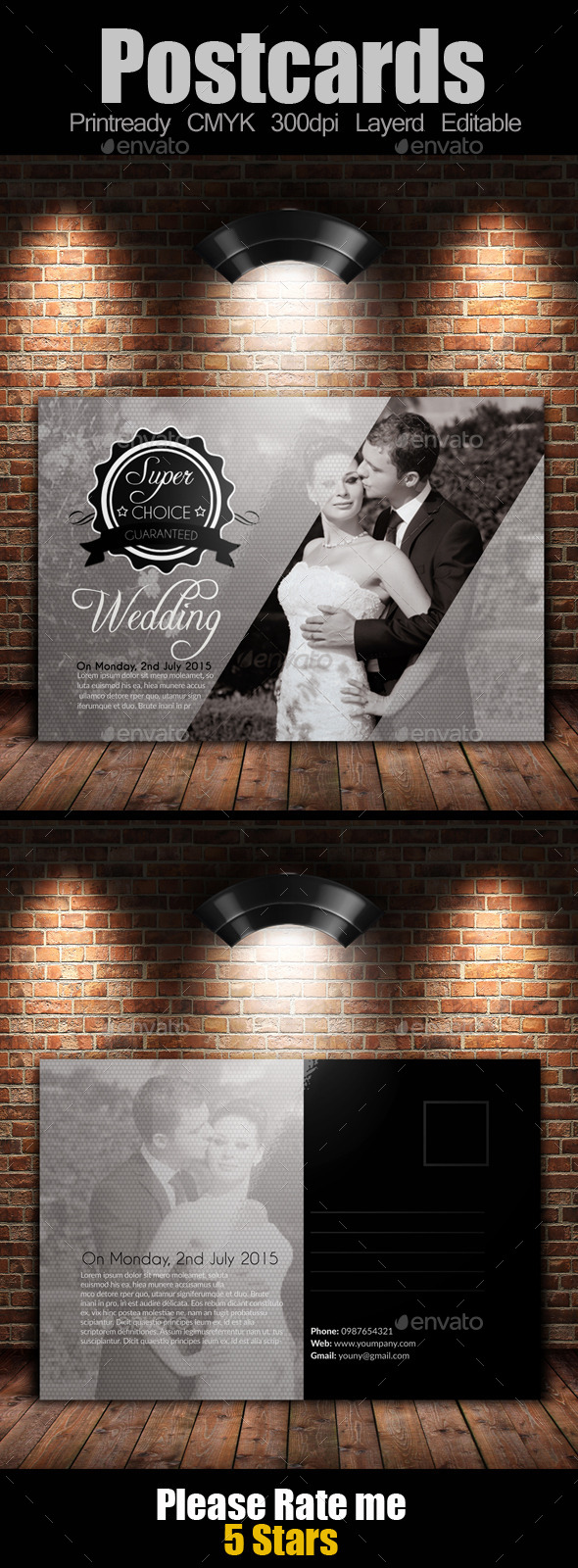 GraphicRiver Wedding Invitation Postcard 9296726