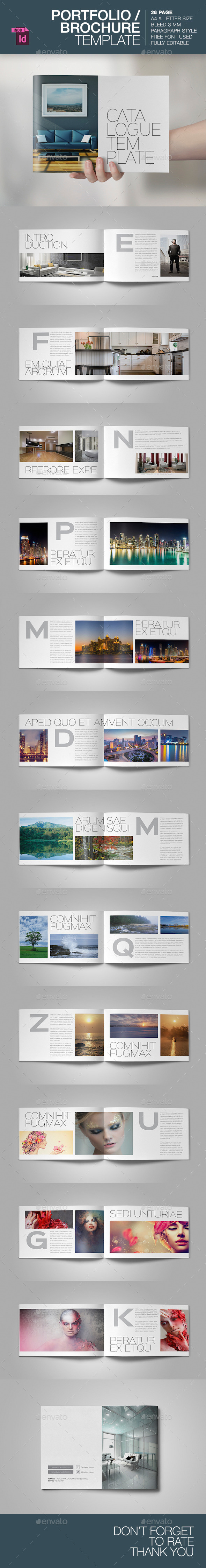 GraphicRiver Portfolio Brochure Template 9296798