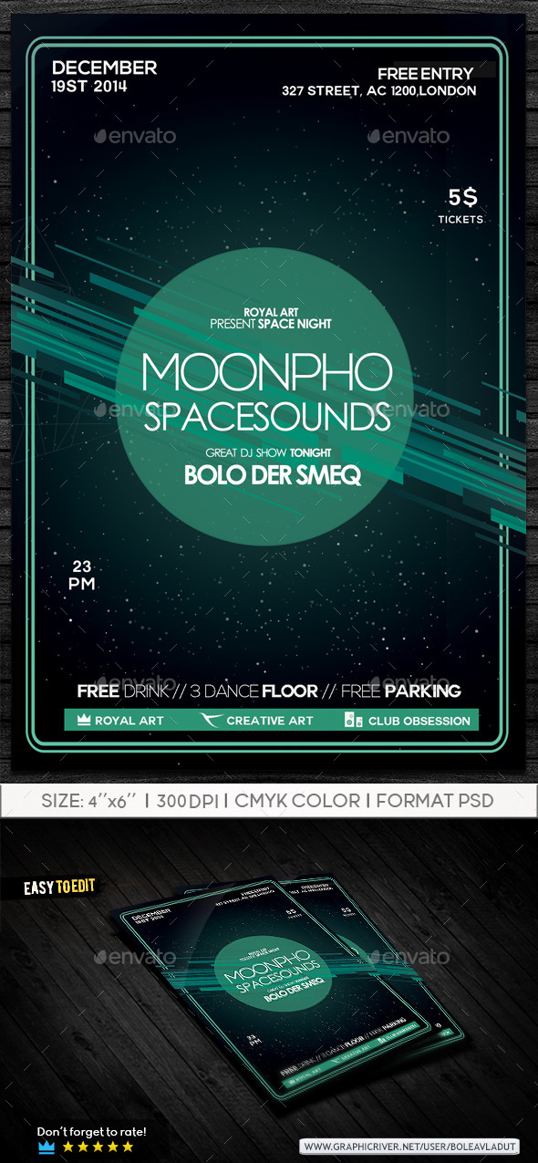 GraphicRiver Party Space Flyer 9296835