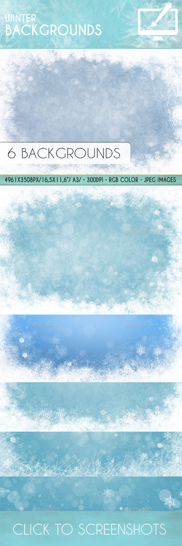 GraphicRiver Winter Backgrounds 9297017
