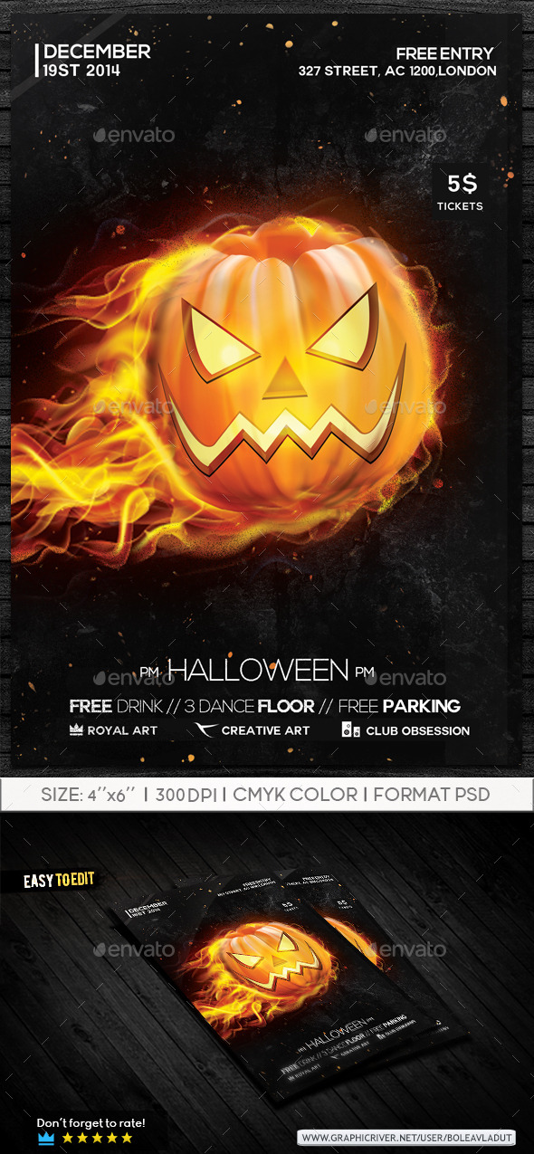 GraphicRiver Halloween Flyer 9297443