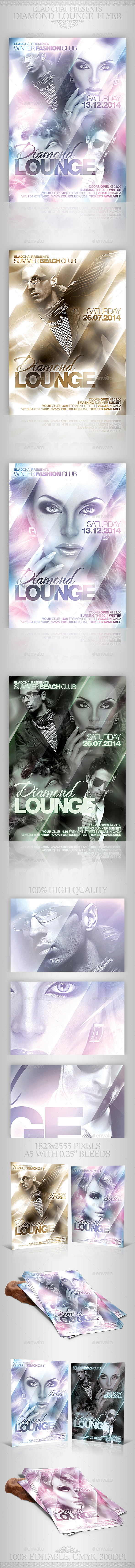 GraphicRiver Diamond Lounge Winter Flyer Template 9297453