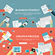 Flat Concepts for Business and Creative Process - GraphicRiver Item for Sale