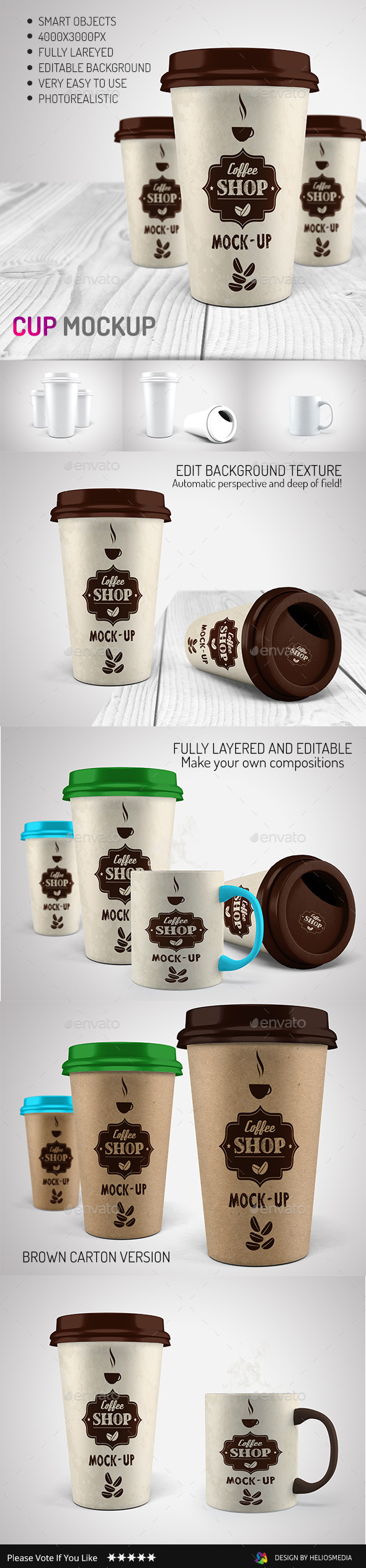 GraphicRiver Coffee Cup Mock-up 9297553