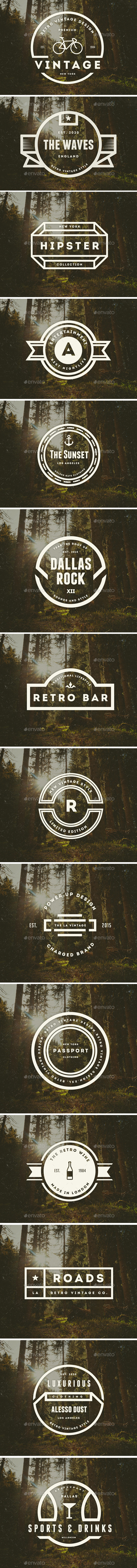 GraphicRiver 14 Vintage Logos Labels & Badges 9298022
