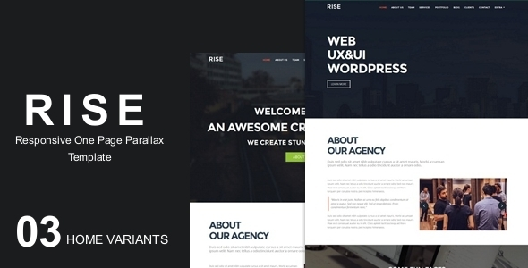 ThemeForest RISE OnePage Agency Portfolio Template 9298065