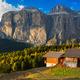Alpine hut at Passo Pordoi with Sella Group, Dolomites, Italian Alps - PhotoDune Item for Sale