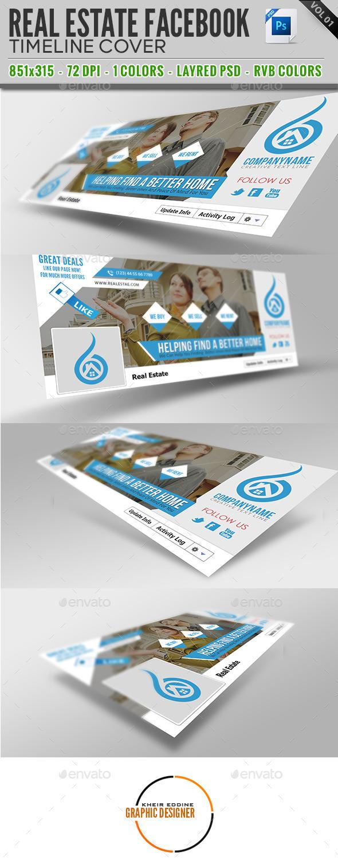 GraphicRiver Real Estate Facebook Timeline Cover Vol 01 9298256