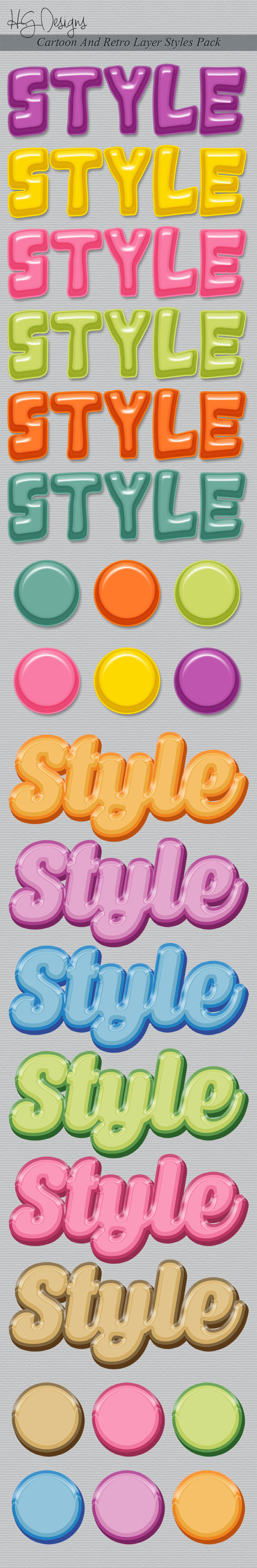 GraphicRiver Comic And Retro Layer Styles Pack 9298313