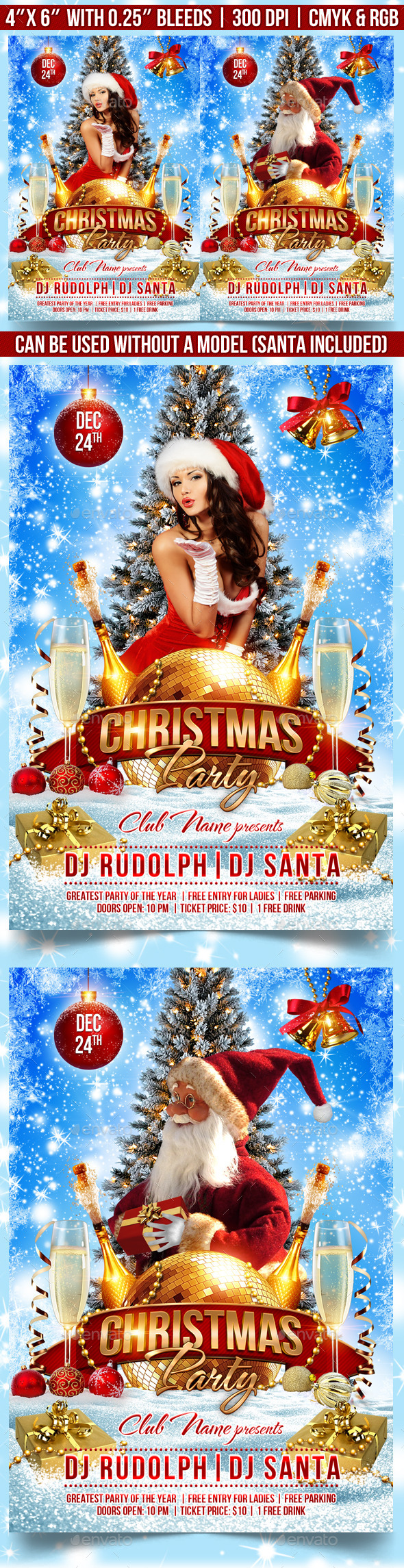 GraphicRiver Christmas Party Flyer Template 9298329