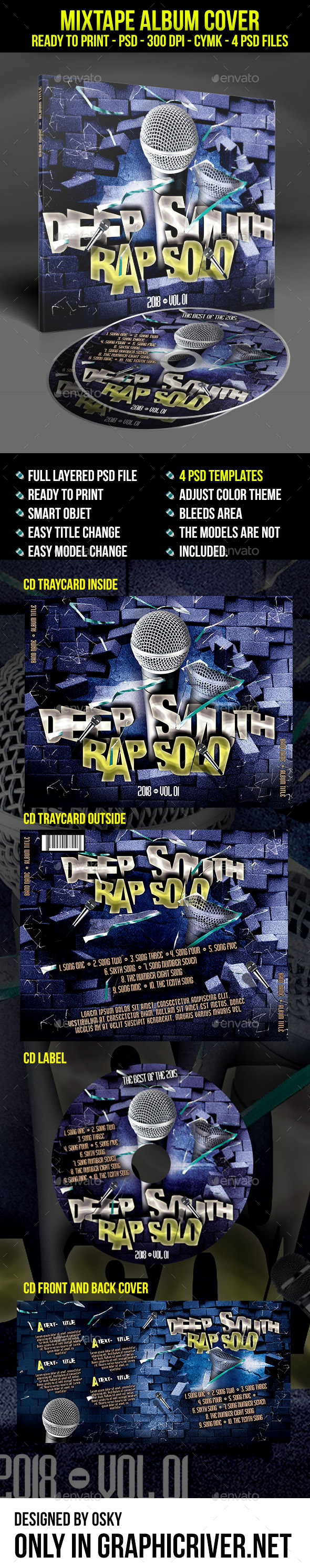 GraphicRiver Deep South Rap Solo Mixtape Cover 9265284