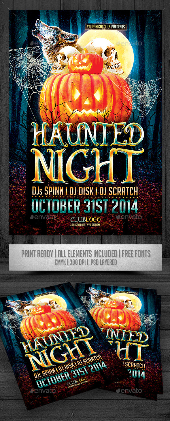 GraphicRiver Haunted Nigh Flyer 9298891
