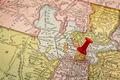 Sallt Lake City on vintage map - PhotoDune Item for Sale