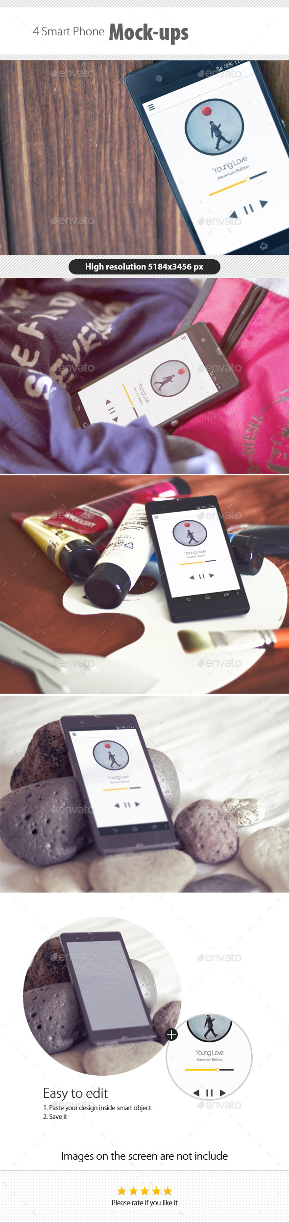 GraphicRiver Smart Phone Mockups 9235931