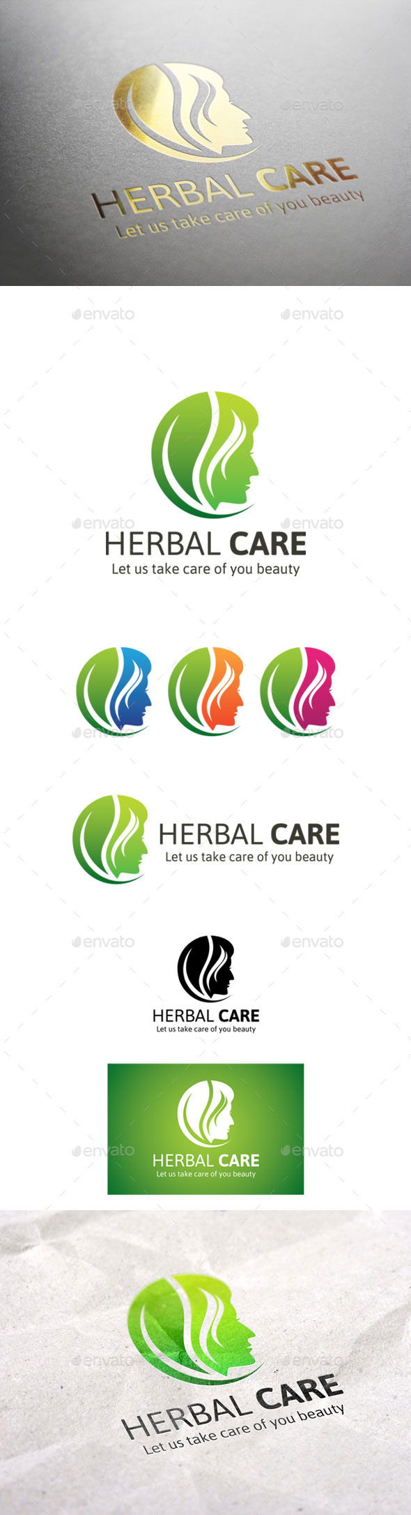 GraphicRiver Herbal Care Logo 9299000