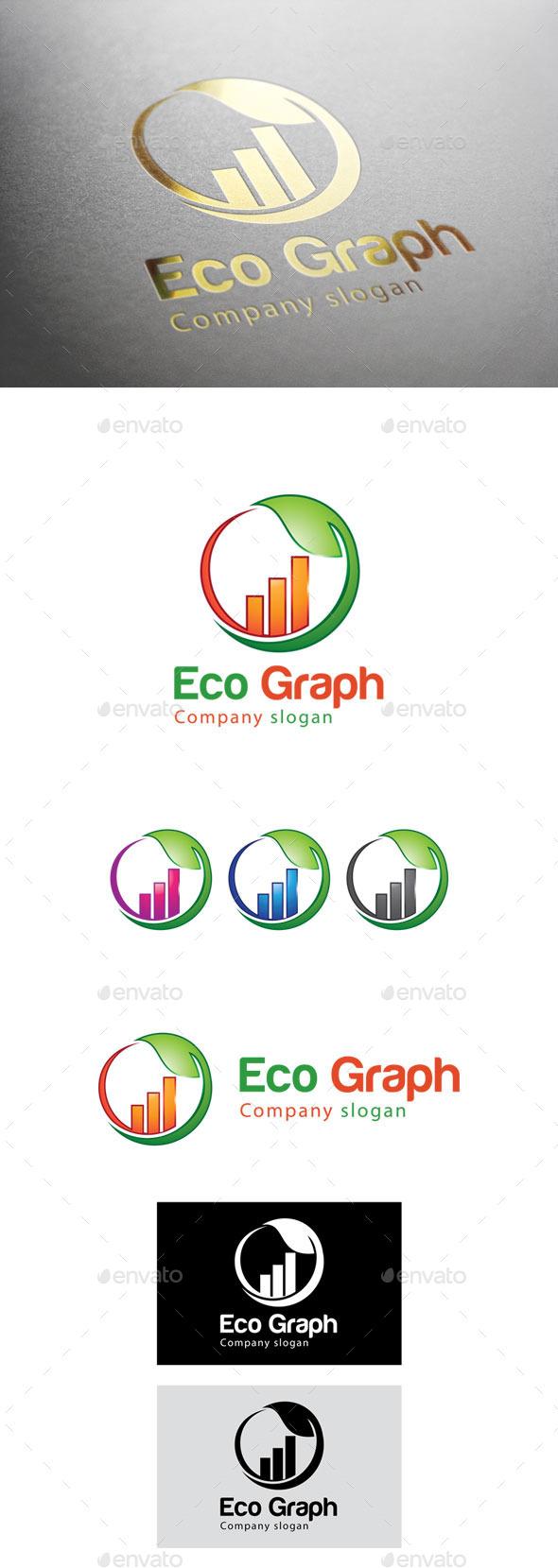 GraphicRiver Eco Graph Logo 9299009