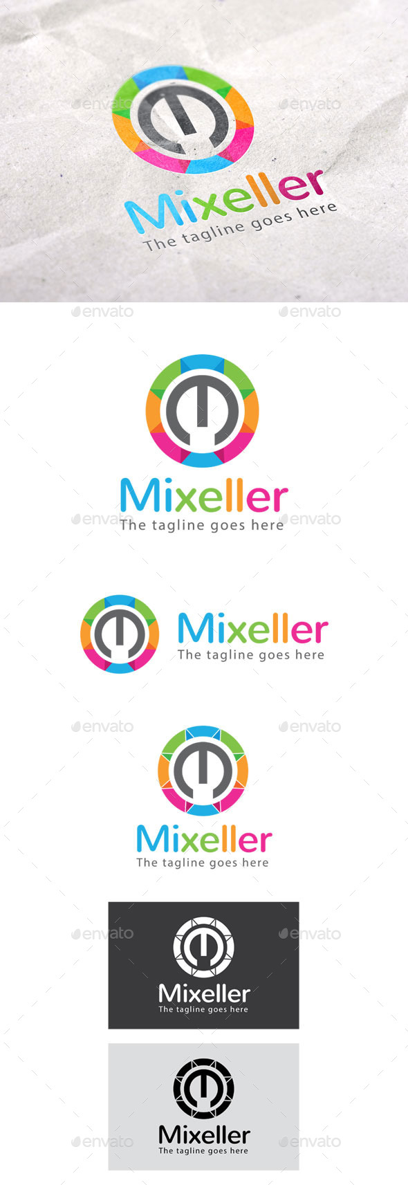 GraphicRiver Mixeller Logo 9299017