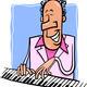 jazz pianist cartoon illustration - PhotoDune Item for Sale