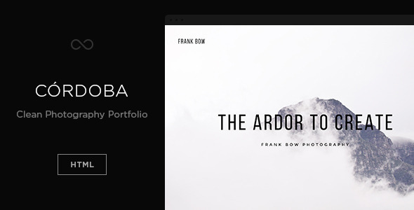ThemeForest C��rdoba Clean Photography Portfolio 9299472
