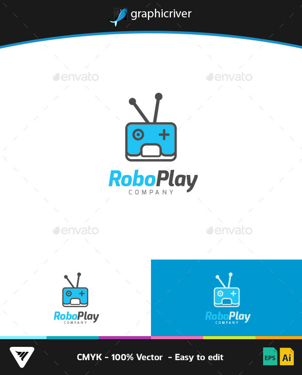 GraphicRiver RoboPlay Logo 9299496