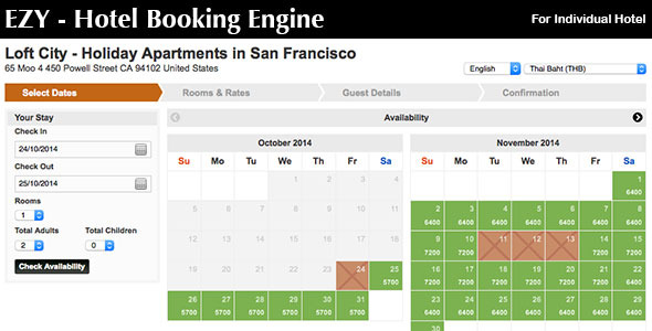 CodeCanyon Ezy Hotel Booking Engine 9299500