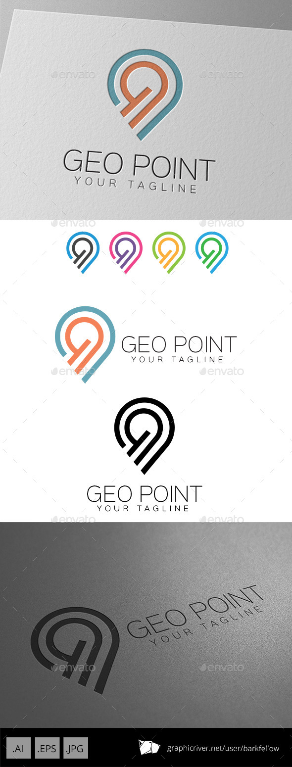 GraphicRiver Geo Point Location Logo 9299502