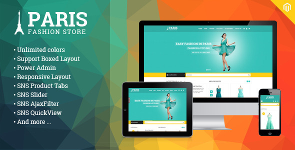 ThemeForest SNS Paris Premium Responsive Magento Theme 9299545