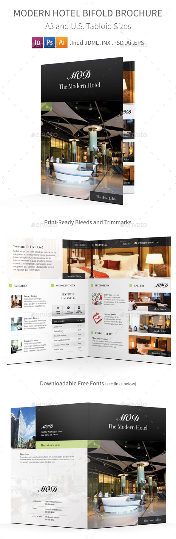 GraphicRiver Modern Hotel Bifold Halffold Brochure 9299549