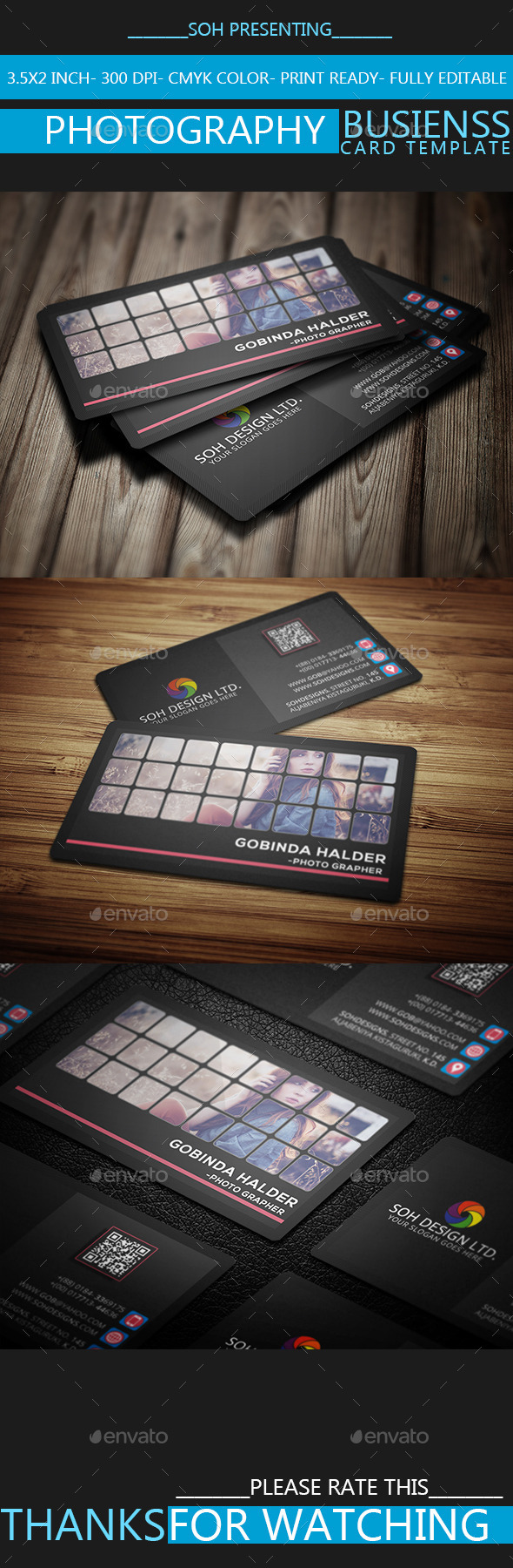 GraphicRiver Photography Business Card Template 9267477