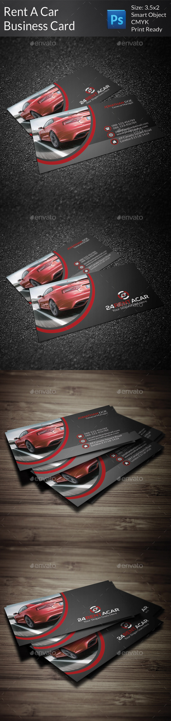 GraphicRiver Rent A Car Business Card 9299674