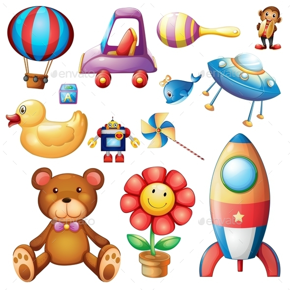 GraphicRiver Set of Different Toys 9299704