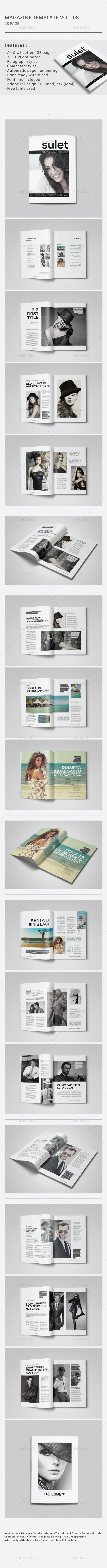 GraphicRiver Indesign Magazine Template Vol.08 9264198