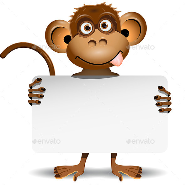 GraphicRiver Monkey with a White Background 9300328