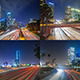 Big City Freeway Traffic At Night Pack - VideoHive Item for Sale