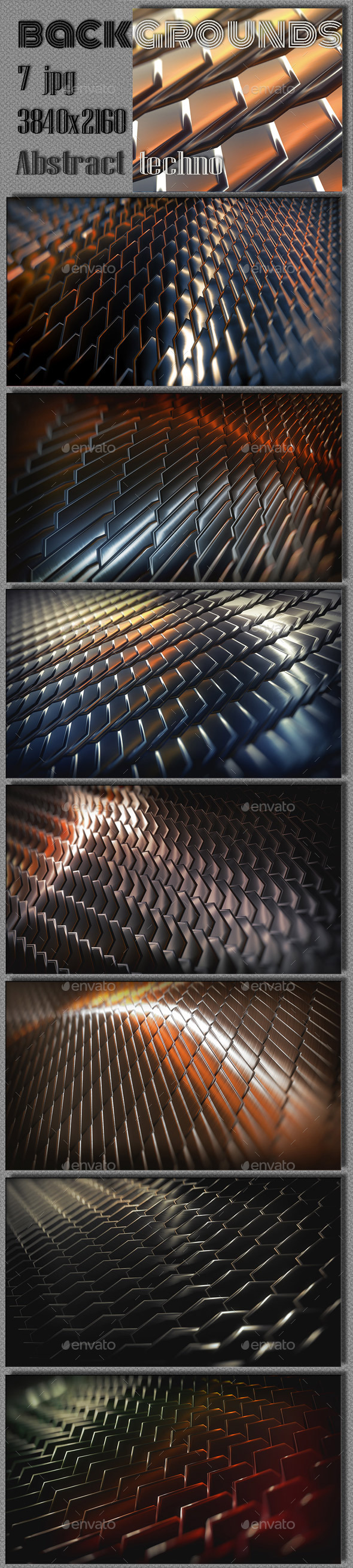 GraphicRiver Abstract 3D Steel Collection 9300505